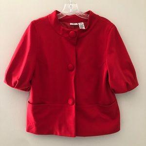 Worthington Blazer Jacket Red 1/2 Sleeve Medium